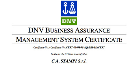 UNI EN ISO 9001:2008 certification renewal
